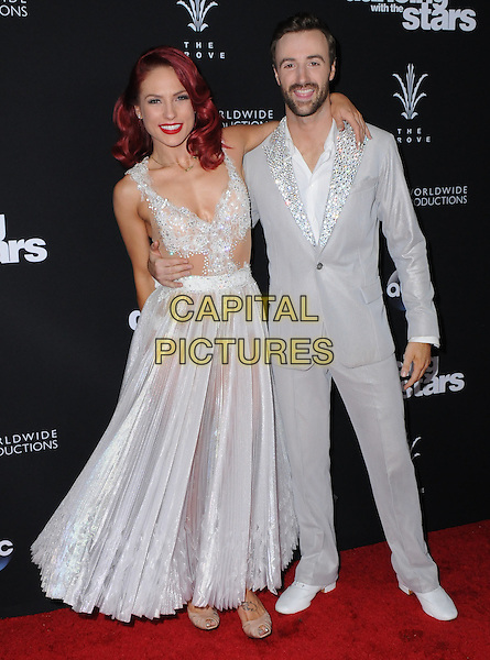 22 November 2016 - Los Angeles, California. Sharna Burgess, James Hinchcliffe. ABC's &quot;Dancing With The Stars&quot; Season 23 Finale held at The Grove. <br /> CAP/ADM/BT<br /> &copy;BT/ADM/Capital Pictures