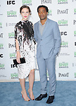 Chiwetel Ejiofor and Sari Mercer<br /> <br />  attends The 2014 Film Independent Spirit Awards held at Santa Monica Beach in Santa Monica, California on March 01,2014                                                                               &copy; 2014 Hollywood Press Agency