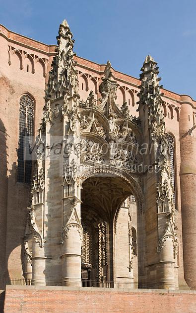 Europe/France/Midi-Pyrénées/81/Tarn/Albi: Cathédrale Sainte-Cécile le porche et le baldaquin