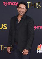 "HOLLYWOOD- SEPTEMBER 26:   Jon Huertas at the premiere of NBC's ""This Is Us"" Season 2 at NeueHouse Hollywood on September 26, 2017 in Hollywood, California. (Photo by Scott Kirkland/PictureGroup)"