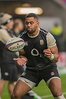 Twickenham, United Kingdom, Saturday, 24th  November 2018, RFU, Rugby, Stadium, England, Pre Game Warm Up. Joe COKANASIGA. Quilter Autumn International, England vs Australia, © Peter Spurrier