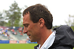 Freedom coach Jim Gabarra at SAS Stadium in Cary, North Carolina on 4/5/03 during a game between the Carolina Courage and Washington Freedom. The Washington Freedom won the game 2-1.