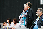 An Onset fan watching the game. Yorkshire v Parishes of Jersey, CONIFA Heritage Cup, Ingfield Stadium, Ossett. Yorkshire's first competitive game. The Yorkshire International Football Association was formed in 2017 and accepted by CONIFA in 2018. Their first competative fixture saw them host Parishes of Jersey in the Heritage Cup at Ingfield stadium in Ossett. Yorkshire won 1-0 with a 93 minute goal in front of 521 people. Photo by Paul Thompson