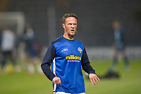 1st November 2019; Dens Park, Dundee, Scotland; Scottish Championship Football, Dundee Football Club versus Greenock Morton; Chris Millar of Greenock Morton during the warm up before the match  - Editorial Use