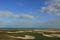 General view of the Par 5 16th during the second round of the Fatima Bint Mubarak Ladies Open played at Saadiyat Beach Golf Club, Abu Dhabi, UAE. 11/01/2019<br /> Picture: Golffile | Phil Inglis<br /> <br /> All photo usage must carry mandatory copyright credit (&copy; Golffile | Phil Inglis)