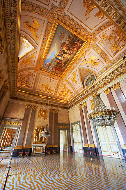 State room in The Kings of Naples Royal Palace of Caserta, Italy. A UNESCO World Heritage Site