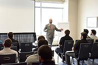 A mentor giving a presentation.