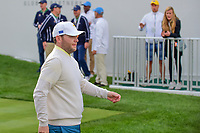 Brandon Grace (RSA) departs the first tee during round 3 Foursomes of the 2017 President's Cup, Liberty National Golf Club, Jersey City, New Jersey, USA. 9/30/2017.<br /> Picture: Golffile | Ken Murray<br /> <br /> All photo usage must carry mandatory copyright credit (&copy; Golffile | Ken Murray)