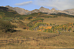Fence and  Sneffels Range in the San Juan Mountains, southwest Colorado, USA.