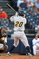 Trenton Thunder outfielder Damon Sublett #20 during a game against the Akron Aeros at Canal Park on July 26, 2011 in Akron, Ohio.  Trenton defeated Akron 4-3.  (Mike Janes/Four Seam Images)