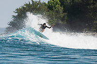 Four Seasons,Kuda Huraa, Maldives (Sunday, August 2, 2015) Neco Padaratz (BRA). The swell was out of the South East today with waves in the 2'-3' range and  clean conditions. There was a surf session at Sultans this afternoon with Neco Padaratz (BRA) and Shane Dorian (HAW), competitors in the Four Seasons Maldives Surfing Champions Trophy using the session s a warm up. There was very a light West South West wind with very good conditions.  Photo: joliphotos.com
