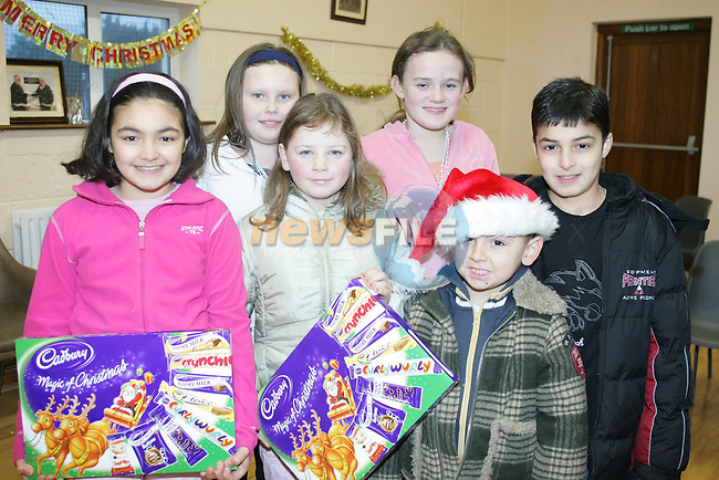 Children at the Termon abbey christmas party in the newtown blues club house.Photo: Fran Caffrey/ Newsfile.<br />
