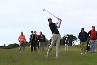 Martin Vorster (RSA) on the 18th during Round 4 of The East of Ireland Amateur Open Championship in Co. Louth Golf Club, Baltray on Monday 3rd June 2019.<br /> <br /> Picture:  Thos Caffrey / www.golffile.ie<br /> <br /> All photos usage must carry mandatory copyright credit (© Golffile | Thos Caffrey)