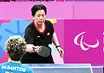 Stephanie Chan competes in womens table tennis at the 2019 ParaPan American Games in Lima, Peru-22aug2019-Photo Scott Grant