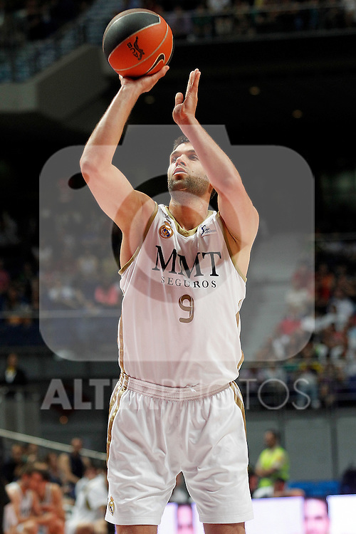 Real Madrid's Reyes during a playoff semifinal match of La Liga Endesa. May 27, 2012. .(ALTERPHOTOS/Alconada) ..