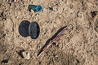IRAk, Bashiqa: Comb of a Daesh member executed by Peshmerga in the town of Bashiqa, 7th December 2016.<br /> <br /> IRAK, Bashiqa: Peigne d'un membre de Deash ex&eacute;cut&eacute; par des Peshmerga dans la ville de Bashiqa, 7th December 2016.