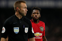 30th October 2019; Stamford Bridge, London, England; English Football League Cup, Carabao Cup, Chelsea Football Club versus Manchester United; Fred of Manchester Utd looks at the referee over a decision - Strictly Editorial Use Only. No use with unauthorized audio, video, data, fixture lists, club/league logos or 'live' services. Online in-match use limited to 120 images, no video emulation. No use in betting, games or single club/league/player publications