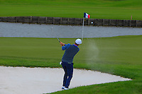 Lucas Bjerregaard (DEN) on the 2nd green during Round 2 of the 100th Open de France, played at Le Golf National, Guyancourt, Paris, France. 01/07/2016. <br /> Picture: Thos Caffrey | Golffile<br /> <br /> All photos usage must carry mandatory copyright credit   (&copy; Golffile | Thos Caffrey)