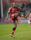 16th March 2018, The AJ Bell Stadium, Salford, England; Betfred Super League rugby, Salford Red Devils versus Hull FC; Robert Lui kicks a conversion