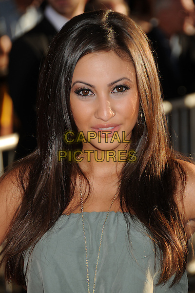 "Francia Raisa.Premiere of ""Captain America: The First Avenger"" held at The El Capitan Theatre in Hollywood, California, USA..July 19th, 2011.headshot portrait grey gray.CAP/ADM/BP.©Byron Purvis/AdMedia/Capital Pictures."