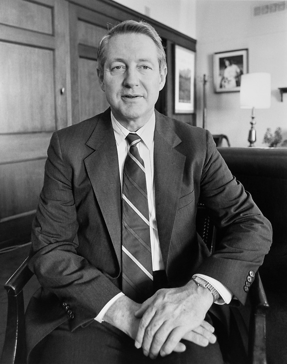 "Sen. George Hanks ""Hank"" Brown, R-Colo. October 1990 (Photo by Anthony Marill/CQ Roll Call)"