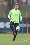 14.04.2018, Trainingsgelaende, Bremen, GER, 1.FBL, Training SV Werder Bremen<br /> <br /> im Bild<br /> Sebastian Langkamp (Werder Bremen #15), <br /> <br /> Foto &copy; nordphoto / Ewert