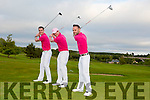 DJ Geaney Castleisland, Owen Landers Cappoquin Co Waterford and Mike Sheehan Glanworth Co Cork Playing a hole of golf in 32 county's in less than 40 hours. All funds are in aid of Breast Cancer, as DJ's mother passed away from Breast Cancer 2011. They will start at 5am in Castleisland