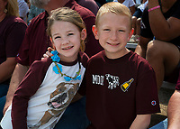 Young MSU fans during Maroon and White football game.<br />  (photo by Lizzy Powers / &copy; Mississippi State University)