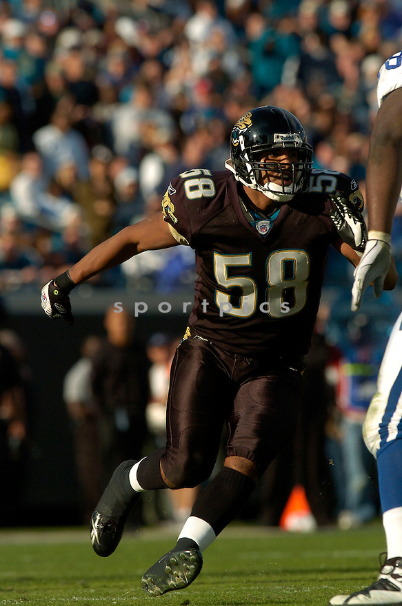 JORGE CORDOVA, of the Jacksonville Jaguars during their game  against the Indianapolis Colts on December 10, 2006 in Jacksonville, FL...Jaguars win 44-17..DAVID DUROCHIK / SPORTPICS