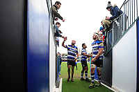 Bath Rugby players have a chat with supporters after the match. Aviva Premiership match, between Bath Rugby and Saracens on December 3, 2016 at the Recreation Ground in Bath, England. Photo by: Patrick Khachfe / Onside Images