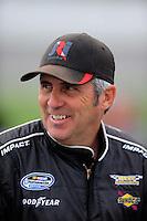 Oct. 3, 2009; Kansas City, KS, USA; NASCAR Nationwide Series driver Mark Green during qualifying for the Kansas Lottery 300 at Kansas Speedway. Mandatory Credit: Mark J. Rebilas-