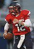 Teddy Bentley #12, Cold Spring Harbor quarterback, scrambles for a gain during the Nassau County Conference IV varsity football semifinals against Carle Place-Wheatley at Hofstra University on Thursday, Nov. 9, 2017.