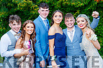 Pictured at MIlltown Presentation Secondary School Debs, held at the Earl of Desmond Hotel, Tralee, on Thursday, July 25th last, were l-r: John Dennehy, Cara Clifford, Sean Hogan, Ellen Teahan, Jack Enright and Alannah Eviston