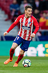 Kevin Gameiro of Atletico de Madrid in action during the La Liga 2017-18 match between Atletico de Madrid and Athletic de Bilbao at Wanda Metropolitano  on February 18 2018 in Madrid, Spain. Photo by Diego Souto / Power Sport Images