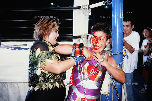 Bull Nakano, Shinobu Kandori,<br /> JULY 14, 1994 - Pro-Wrestling : LLPW Lady's Legend Pro-Wrestling event in Japan.<br /> (Photo by Yukio Hiraku/AFLO)