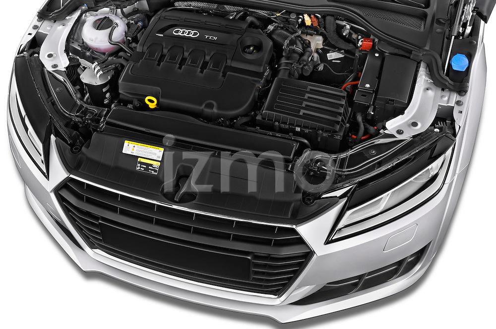 Car Stock 2016 Audi TT-Roadster - 2 Door Convertible Engine  high angle detail view