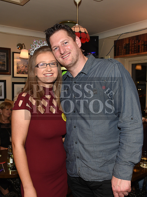 Caoimhe Connor celebrating her 18th birthday with godparent James Harrison in the Railway Arms. Photo:Colin Bell/pressphotos.ie
