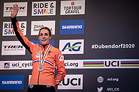 podium:<br /> Lucinda Brand (NED) finishes 3th place and takes the  bronze medal<br /> <br /> Women's Elite Race<br /> UCI 2020 Cyclocross World Championships<br /> Dübendorf / Switzerland<br /> <br /> ©kramon