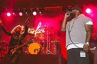 SAN FRANCISCO, CA - June 21: (L - R) Kirk Douglas, Questlove, and Black Thought of The Roots perform at Clusterfest on June 21, 2019 in San Francisco, CA. photo: Ryan Myers/imageSPACE/MediaPunch