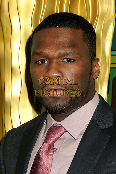 CURTIS JACKSON aka 50 Cent.HBO 2011 Post Golden Globe Awards Party held at The Beverly Hilton Hotel, Beverly Hills, California, USA..January 16th, 2011.headshot portrait pink grey gray beard facial hair .CAP/ADM/BP.©Byron Purvis/AdMedia/Capital Pictures.