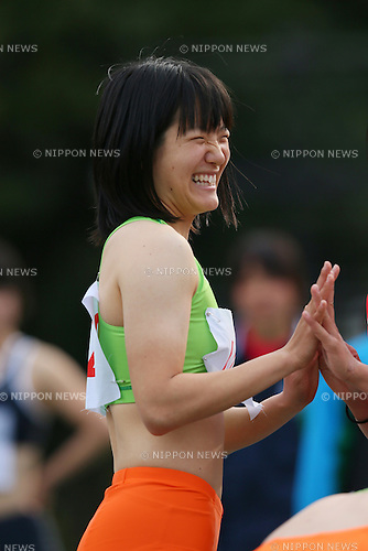 Anna Doi, <br /> APRIL 13, 2014 - Athletics : <br /> The 8th Iwakabe Cup <br /> Women's 100m <br /> at Kamiyugi Park Athletic Stadium, Tokyo, Japan. <br /> (Photo by YUTAKA/AFLO SPORT)