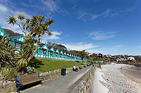 Pictured: Langland Bay near Swansea, Wales, UK. Sunday 22 March 2020