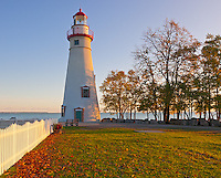Marblehead Lighthouse State Park, OH<br /> Morning at Marblehead Lighthouse (1819) on Lake Erie, oldest lighthouse in continuous operatoin on the great lakes