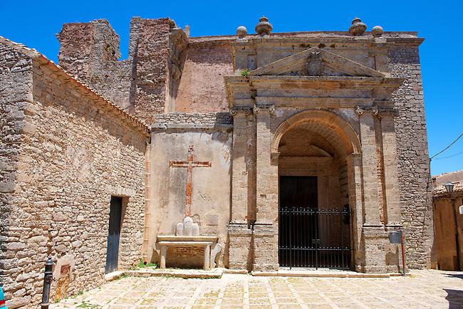 Church of San Dominica , Érice, Erice, Sicily stock photos.