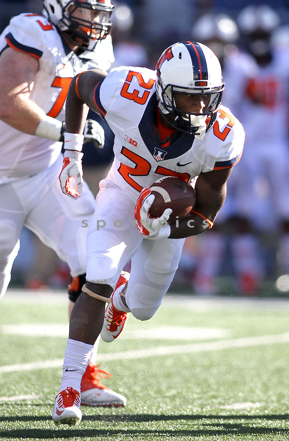 Illinois Illini Devin Church (23) during a game against the Washington Huskies on September 13, 2014 at Husky Stadium in Seattle, WA. Washington beat Illinois 44-19.
