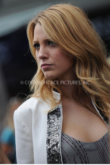 WWW.ACEPIXS.COM . . . . . ....September 30 2008, New York City....Actress Blake lively shoots a kissing scene with John Patrick Amedori in Times Square for the TV show 'Gossip Girl' on September 30 2008 in New York City.....In the show Lively plays rich girl 'Serena Van Der Woodsen', and Amedori, who is a recent addition to the regular cast, plays an artist named 'Aaron Rose'.....Please byline: KRISTIN CALLAHAN - ACEPIXS.COM.. . . . . . ..Ace Pictures, Inc:  ..(646) 769 0430..e-mail: info@acepixs.com..web: http://www.acepixs.com