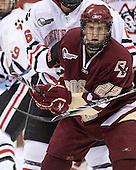 Paul Carey (BC - 22) - The Northeastern University Huskies defeated the Boston College Eagles 3-2 on Friday, February 19, 2010, at Matthews Arena in Boston, Massachusetts.