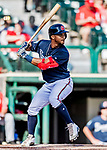 25 February 2019: Atlanta Braves infielder Ray-Patrick Didder at bat during a pre-season Spring Training game against the Washington Nationals at Champion Stadium in the ESPN Wide World of Sports Complex in Kissimmee, Florida. The Braves defeated the Nationals 9-4 in Grapefruit League play in what will be their last season at the Disney / ESPN Wide World of Sports complex. Mandatory Credit: Ed Wolfstein Photo *** RAW (NEF) Image File Available ***