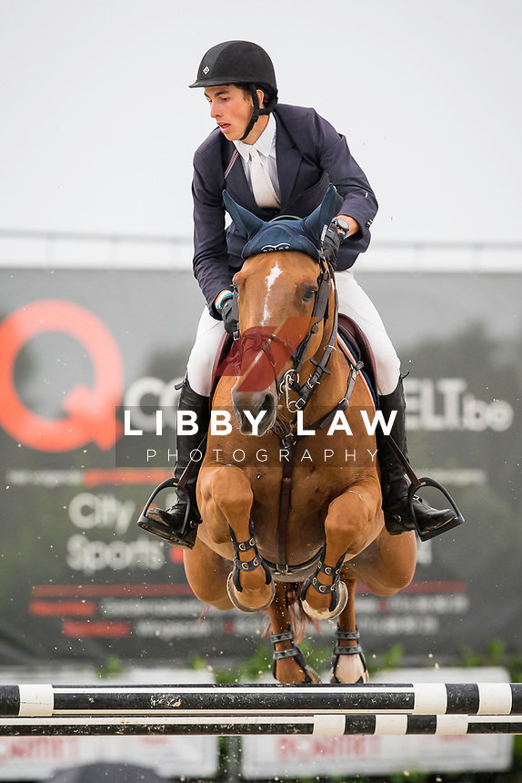 BEL-Viktor Daem (FLEUR DE KALVARIE) FINAL-5TH: CSI3* TABLE A AGAINST THE CLOCK WITH JUMP OFF (145cm): Small Grand Prix - Qalifier for Grand Prix: 2014 BEL-Bonheiden CSI1*/CSI3* (Saturday 28 June) CREDIT: Libby Law COPYRIGHT: LIBBY LAW PHOTOGRAPHY - NZL