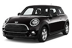 2015 MINI MINI Cooper 3 Door Hatchback Angular Front stock photos of front three quarter view